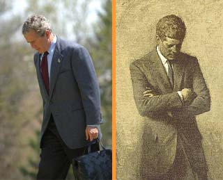 bush as kennedy